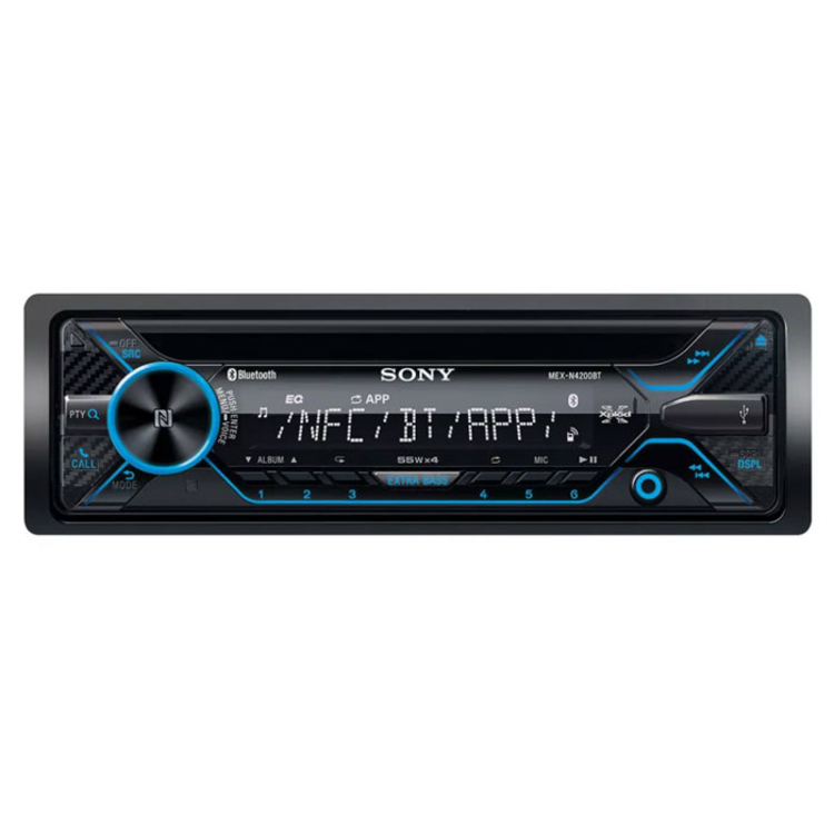 Radio Auto SONY 1 Din con CD  Bluetooth Mex-N4200BT