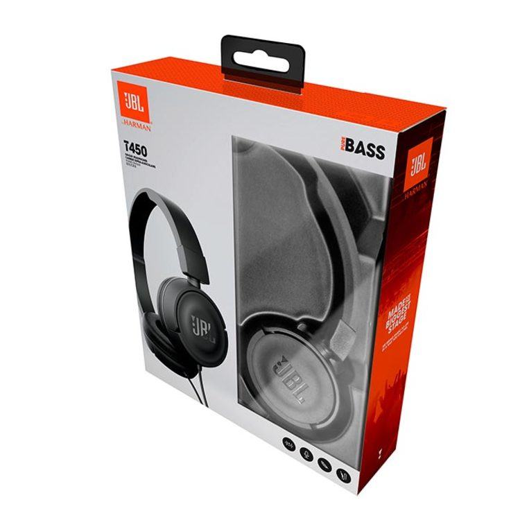 Audífonos JBL Alámbrico On Ear T450 Negro - 3