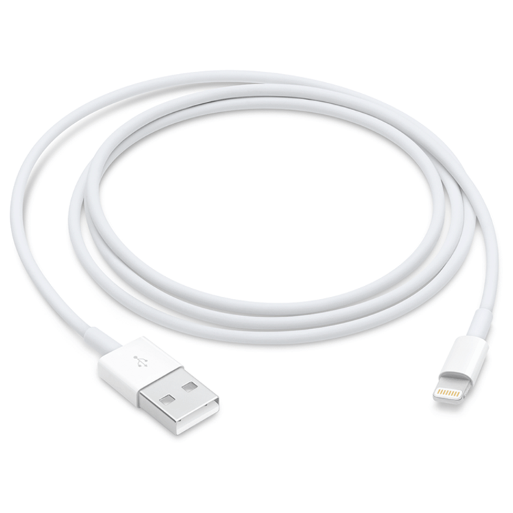 Cable Conector APPLE  USB/Lightning 1 Mt Blanco