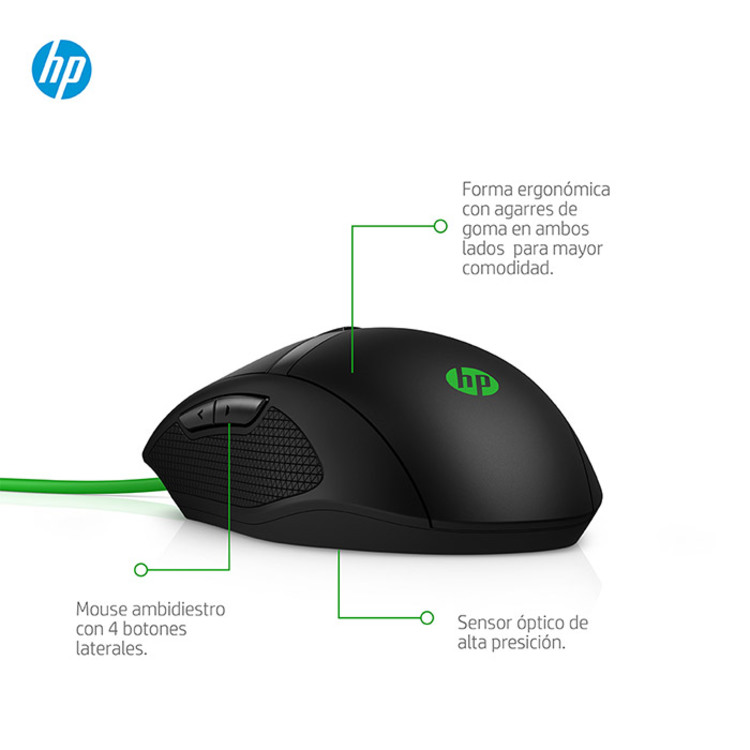 Mouse HP Alambrico 300 Pavilion Gaming - 7