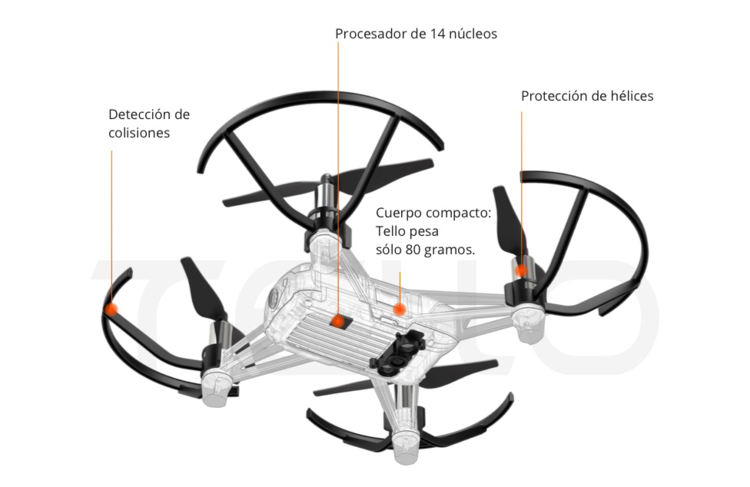 Dron DJI Tello Bluetooth Bl - 3