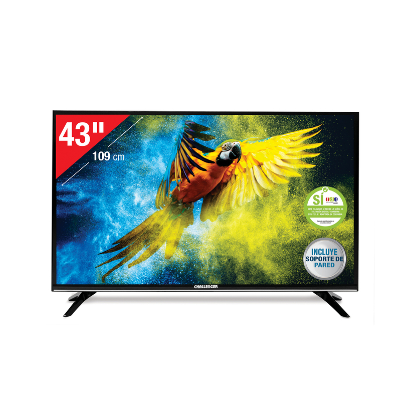 "TV CHALLENGER 43"" Pulgadas 108 Cm 43T22 Full HD LED Plano Smart TV - 0"