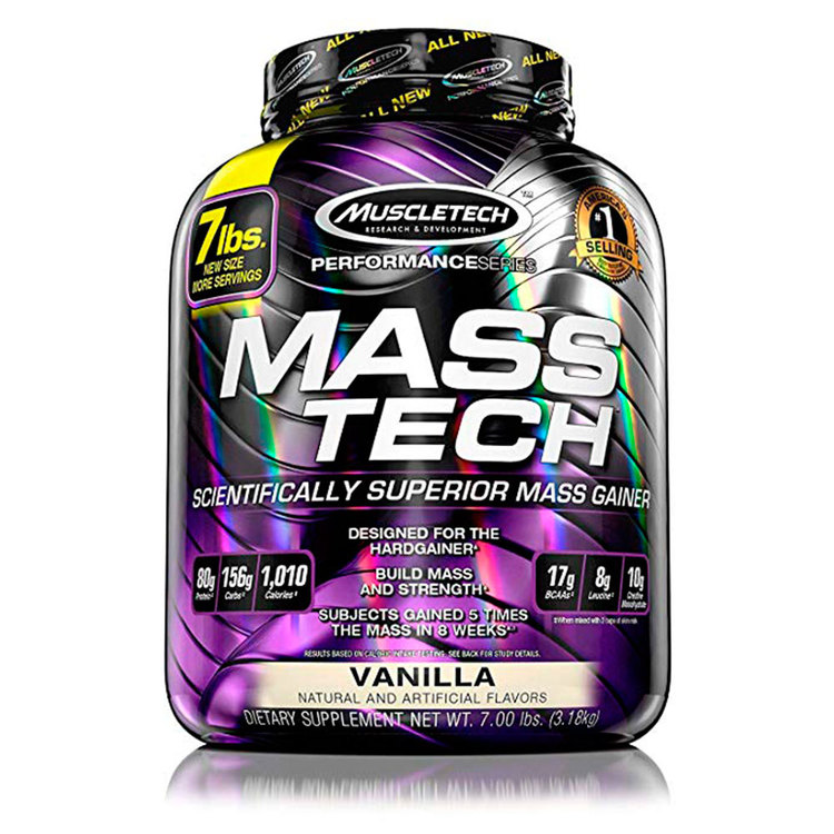 Proteína MUSCLETECH MASS TECH PERFORMANCE 7 libras vainilla