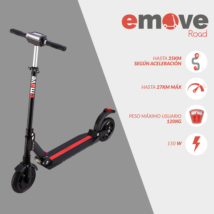 Patineta Electrica/ Scooter ROAD EMOVE - 0